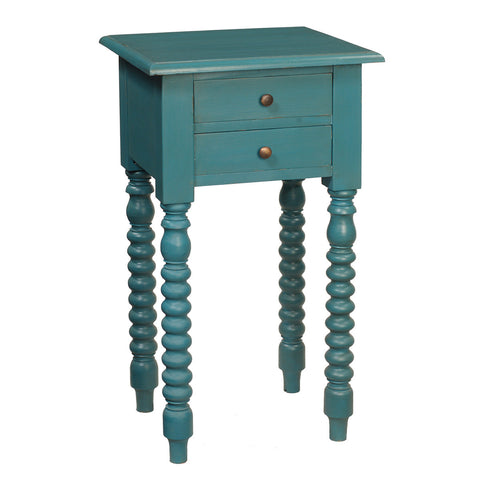 Batam Accent Table, Teal