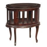 Medan Tea Table, Dark Mahogany
