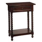 Tidore Side Table, Dark Mahogany