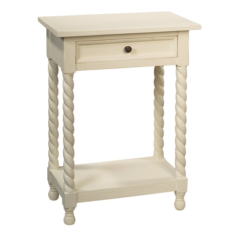 Tidore Side Table, Snow White