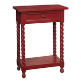 Tidore Side Table, Scarlet Red