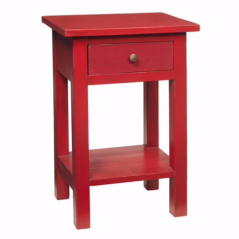 Tarakan End Table, True Red