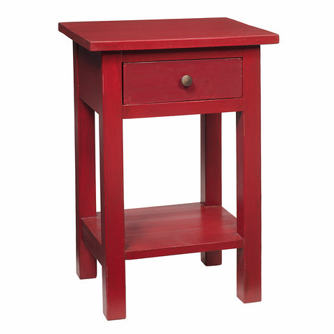 Tarakan End Table, Scarlet Red