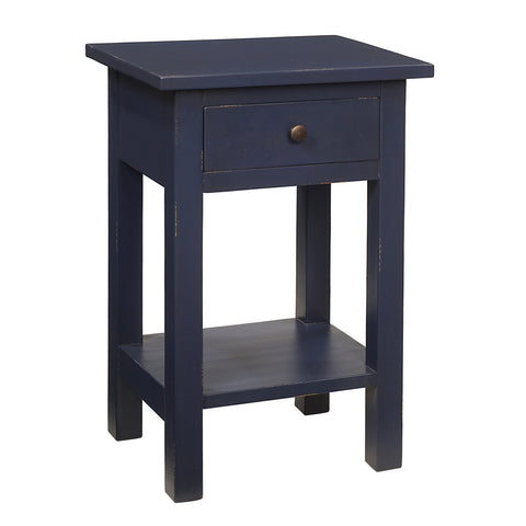 Tarakan End Table, Cobalt Blue