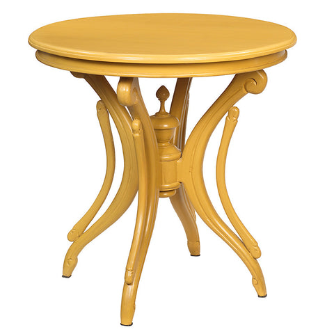 Clove Round Accent Table, Sunset Gold
