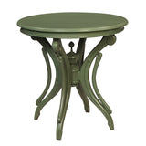 Clove Round Accent Table, Green Bay
