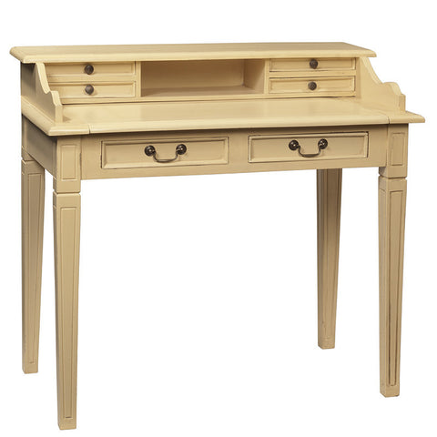 Sema Hand-Carved Piano Desk, Butter Yellow