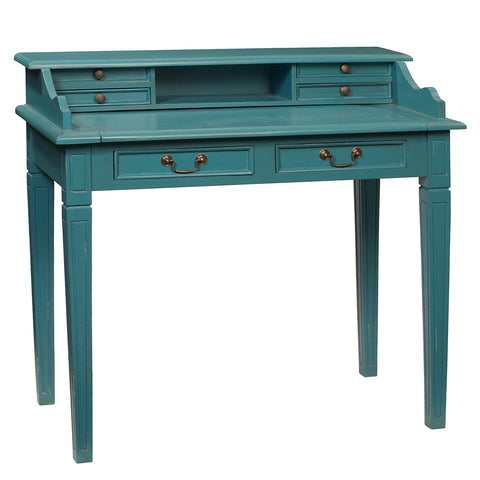 Sema Hand-Carved Piano Desk, Teal