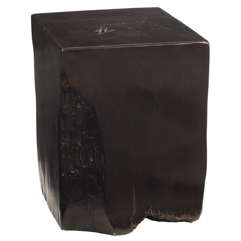 Teak Box Stump, Dark Brown