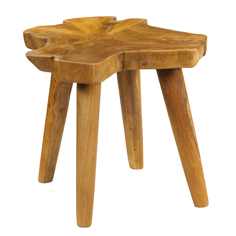 Mod Teak Slab Table, Natural