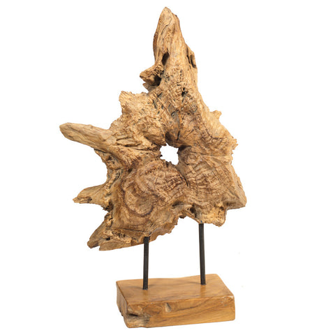 Teak Root Sculpture, Natural