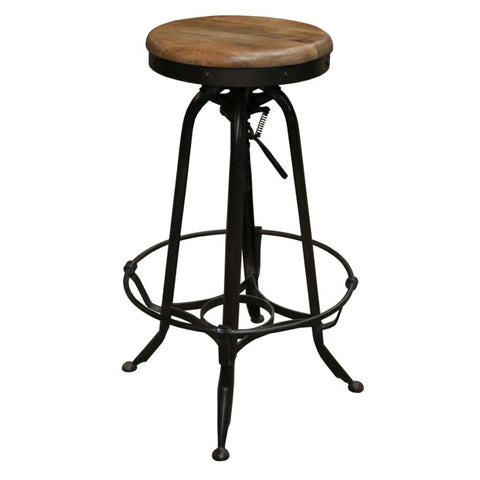 Batts Iron & Wood Work Stool