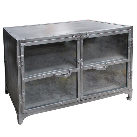 Phoebe Industrial Cabinet, Gray