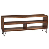 Live Edge Media Stand, Dark Gray Wash