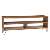 Live Edge Media Stand, Honey