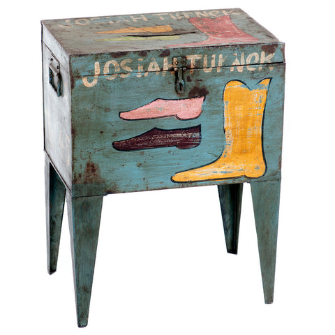 Postmaster Box End Table, Shoes