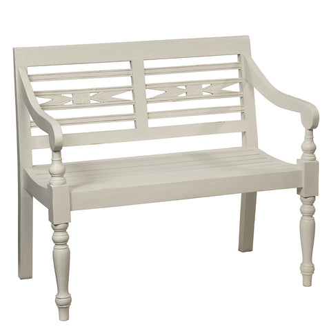 Raffles Bench, Cloud White