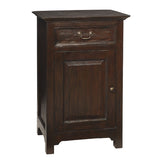 Lando 1 Door Cabinet, Walnut