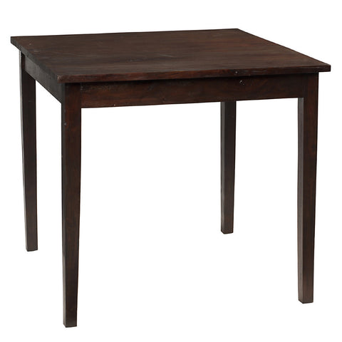 "Farmhouse Dining Table 40"" x 40"" x 30"", Dark Mahogany"