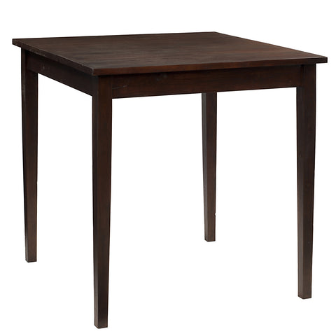 "Farmhouse Dining Table 40"" x 40"" x 36"", Dark Mahogany"
