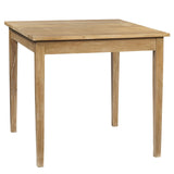 "Farmhouse Dining Table 40"" x 40"" x 36"", Natural"
