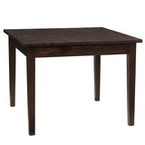 "Farmhouse Dining Table 40"" x 40"" x 40"", Dark Mahogany"