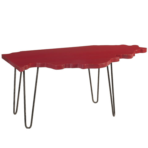 Illinois Coffee Table, Ruby Red