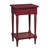 Gino Pedestal Table, Ruby Red
