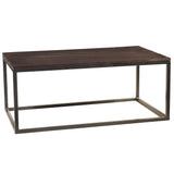 Burlington Iron & Wood Coffee Table Large, Rustic Espresso