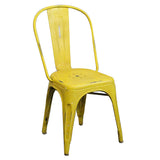 Iron Chair, Industrial Yellow
