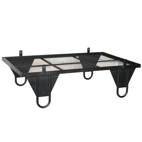 Ceorl Iron and Glass Low Coffee Table