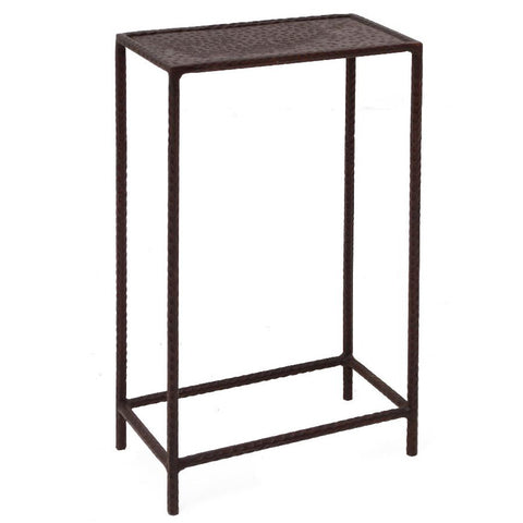 Little Hammered Iron Side Table, Gunmetal