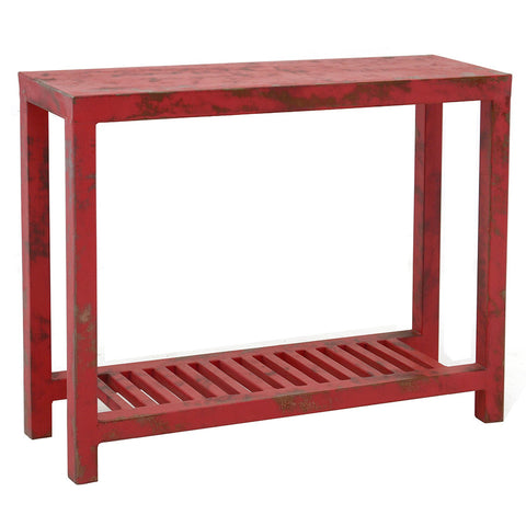 Loha Iron Console, Antique Red