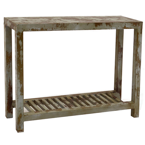 Loha Iron Console, Antique Gray