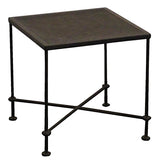 Metal Mesh Side Table, Acid Finish
