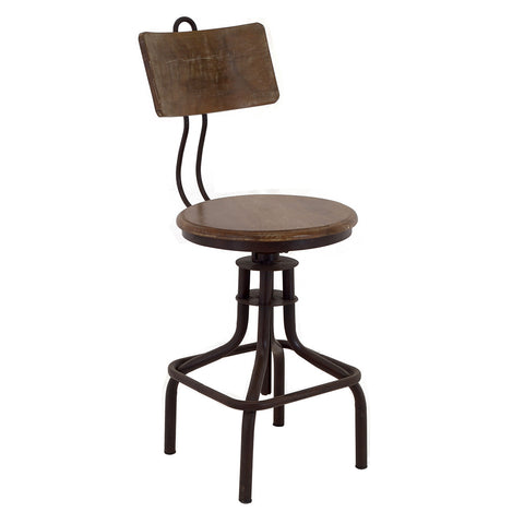 Adjustable Height Industrial Stool  sc 1 st  Wrightwood Furniture & Industrial Furniture in Chicago | Rustic u0026 Modern | Wrightwood islam-shia.org