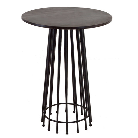 Rumer Iron Side Table, Black Wash