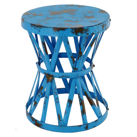 Drum Table, Turquoise