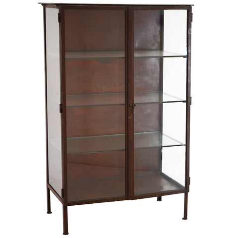 Cliff Iron and Glass Cabinet, Acid Finish