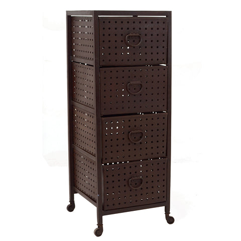 Iron 4 Drawer Shelf