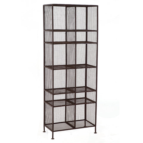 Arbor Iron Mesh Cubby Rack, Acid Finish