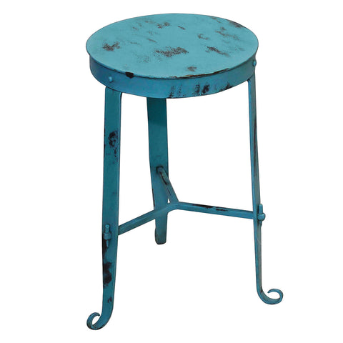 Nice Little Stool / Side Table, Turquoise