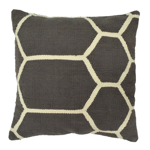 "Hexagon Pillow 20"" x 20"", Dark Gray"