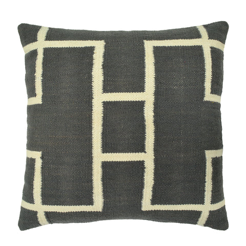 Geometric Pillow, Dark Gray