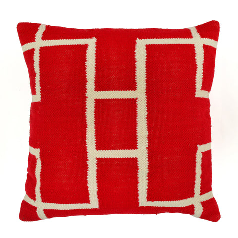 Geometric Pillow, Red
