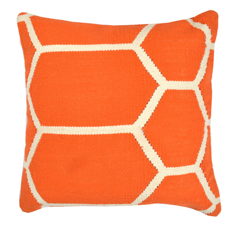 "Hexagon Pillow 20"" x 20"", Orange"