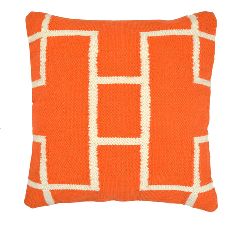 Geometric Pillow, Orange