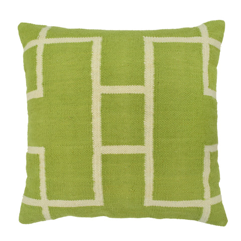 Geometric Pillow, Light Green