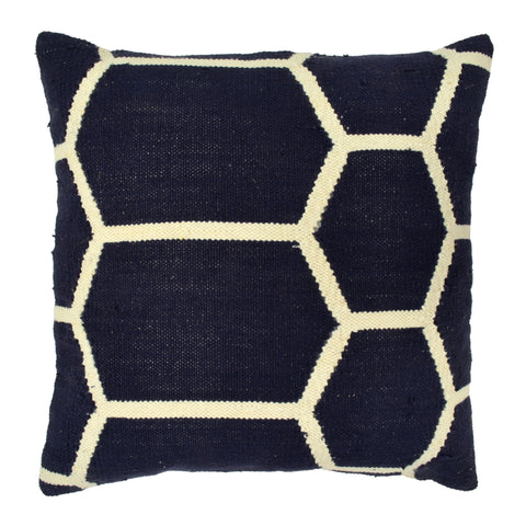 "Hexagon Pillow 20"" x 20"", Navy"