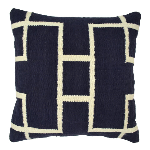 Geometric Pillow, Navy